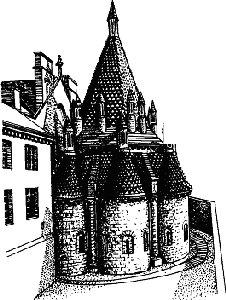 Кухня в средневековом аббатстве (Foutevraud): oтдельное здание; в каждой из башенок – отдельная печь