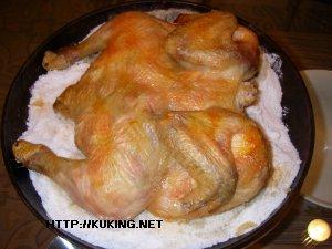 Курица в духовке целиком с солью рецепт пошагово