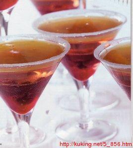 Рецепт Желе из розового шампанского и маракуйи.
