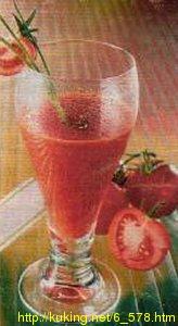 """Напиток  """"Витаминная бомба """".  1. Большие помидоры обдать кипятком, снять с."""