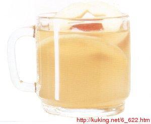 Этот чай успокоит и тело и душу...  На 1 порции: 3 яблока 5 см корня...