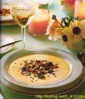Суп-пюре из цветной капусты с яблоком – кулинарный рецепт