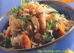 Ароматный рис и филе индейки