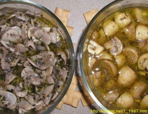 Блюда из сырых шампиньонов рецепты с фото