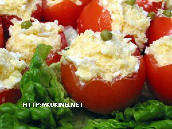 Помидоры с сыром и чесноком рецепт