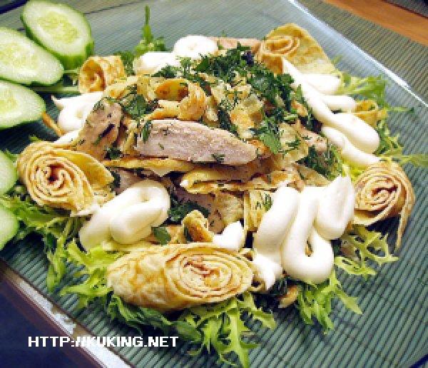 Блинный салат фото