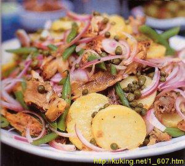 скумбрии с картофелем копченой Салат из