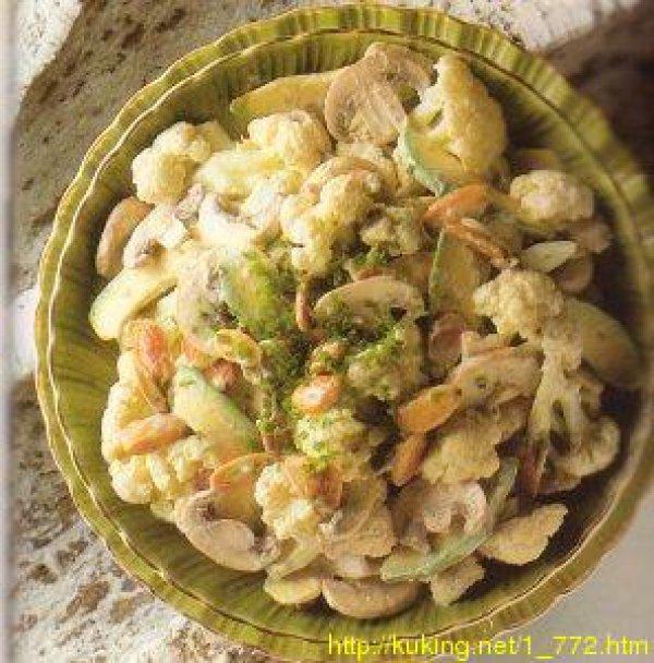 Салат из шампиньонов с цветной капустой