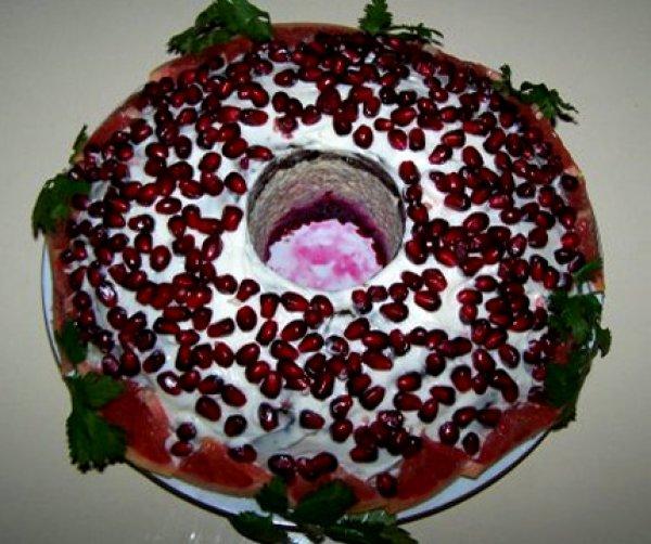 салат гранатовый браслет салат рецепт с фото