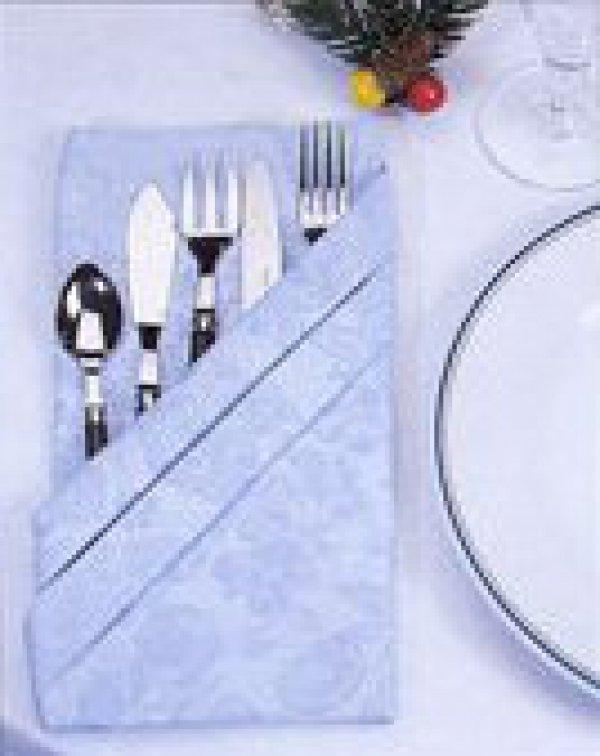 Салфетки для столовых приборов своими руками