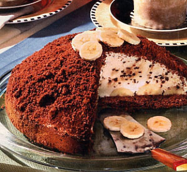 Торт шоколадно банановый рецепт с фото пошагово