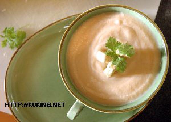 суп пюре из цветной капусты с плавленным сыром
