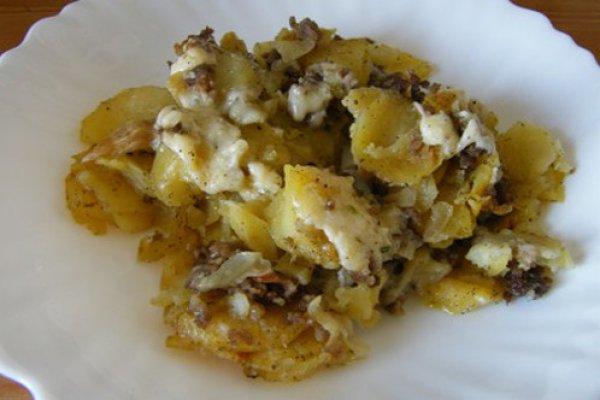рецепт картофеля с мясным фаршем в мультиварке