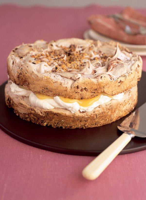 Торт с безе с лимонным кремом