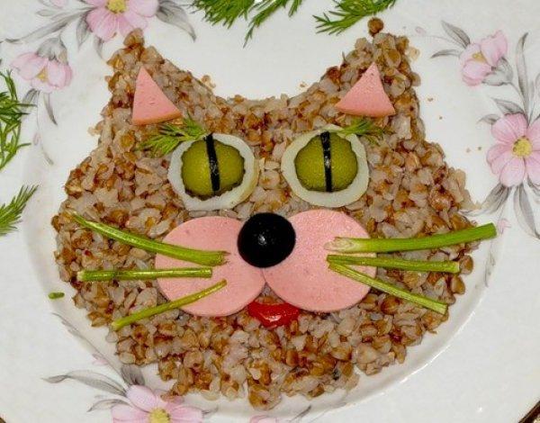 Кот из гречневой каши
