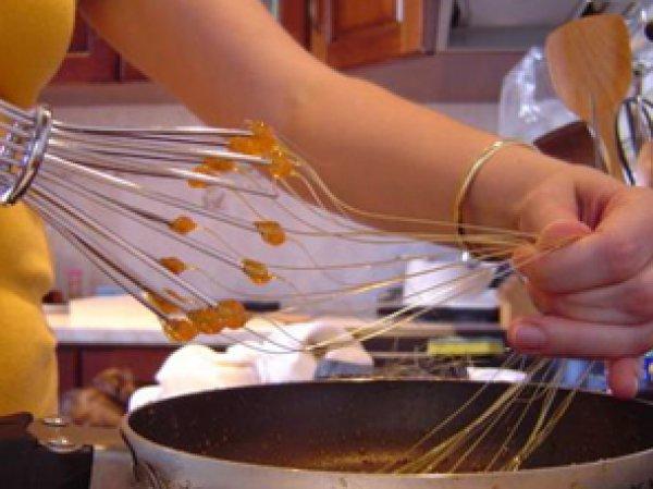 как сделать нити и украшения из карамели