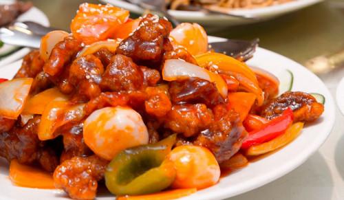 курица в кисло сладком соусе с овощами рецепт с фото